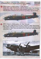 Print Scale Decals 1/72 HANDLEY PAGE HALIFAX British Medium Bomber Part 2