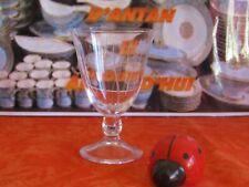 Superbe verre à eau en cristal Daum signé modèle Orval gravé ( 3 dispo )
