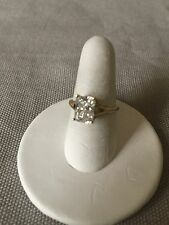 Size 5 14K Yellow Gold Clear Cubic Zirconia (Cz) Solitaire Ring