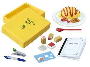 Re-ment Miniatures Pencil Cafe Notebook stapler pen box file - No.7