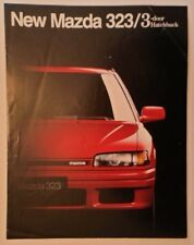 MAZDA 323 HATCHBACK orig 1990 UK Mkt Sales Brochure - SE GT