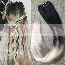 Brazilian Black Balayage Blonde Tape in Remy Human Hair Extensions Full Head