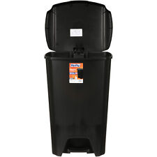 Hefty 13-Gal Step-On Trash Can with Lid, Black