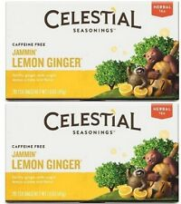 Celestial Seasonings Jammin Lemon Ginger Tea 2 Pack