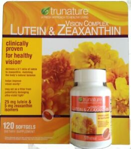 Trunature Lutein and Zeaxanthin Softgels, 120 Count