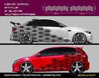 Hexa Camo Style Camouflage Seitenstreifen Autoaufkleber - #5_048 -2