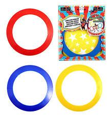 Lot de 3 coloré circus skills tours plastique juggler juggling anneaux TY7477