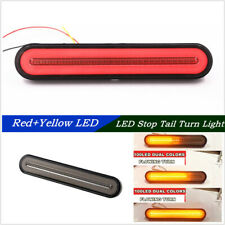 2x 100LED 2835 SMD Dual Color Car RV Trailer Stop Flowing Brake Rear Tail Lights