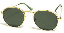 Oval Round Sunglasses Retro #Ora #Miley #Gigi Style Gold Frames Green Lens