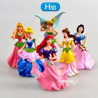 cute Tinker Bell Lots flowers  figure PVC figures set of 6PCS doll girl gift n