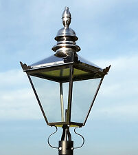Large Victorian Traditional Style Lantern Lamp Post Light Garden Stainless Steel
