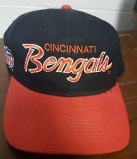 VTG CINCINNATI BENGALS SCRIPT SPORTS SPECIALTIES SNAPBACK HAT CAP NFL 1990's