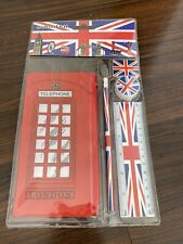 British London UK Telephone Stationary Set School Supplies for Kids 5 Pieces