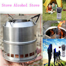 Portable Wood Gas Backpacking Wood Burning Camping Picnic Stove Alcohol Stove