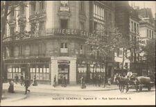 PARIS ST-ANTOINE CARTE POSTALE SOCIETE GENERALE SERVICE COFFRES-FORTS BUREAU O