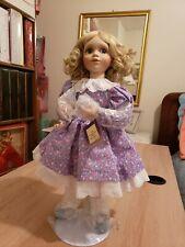 "Ashton Drake Porcelain Doll Helen Steiner Rice ""Gathering Violets"" Mib, Rare"