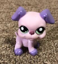 LPS 2007 Littlest Petshop Purple Lilac Lavender Boxer Puppy Dog Figure C-031G