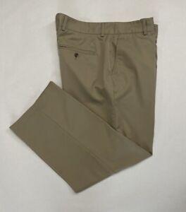 ADIDAS CLIMALITE  Men's Golf Pants Beige Size 38x30. 09210056