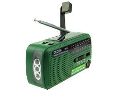 DEGEN DE13 DSP FM/ AM/ SW Hand Cranking + Solar Power Radio