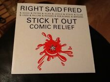 RIGHT SAID FRED  AND FRIENDS . STICK IT OUT ( COMIC RELIEF ) MINT . BASIL BRUSH