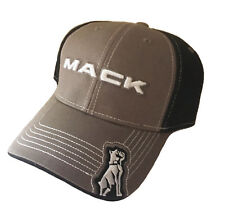 4f9c1e9148c Mack Trucks Black   Charcoal Embroidered Mesh with Metal Buckle Closure Cap  Hat