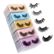 New listing Wholesale Mixed Lashes Pack 3D Faux Mink Eyelashes 5 Style 30 Pairs Fluffy Look
