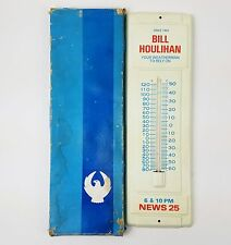 Vintage Metal Thermometer Advertisement 1960s Bill Houlihan Peoria Illinois NEW