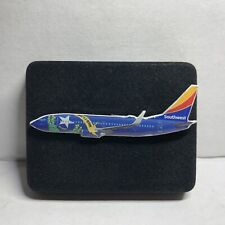 Ceramic Ornament America West Airlines 737 with Santa