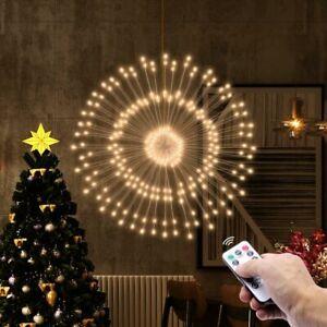 LED Fireworks String Lights Dandelion Lamp Christmas Fairy Lights Garland Decor