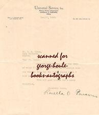 LOUELLA PARSONS~LETTER~SIGNED~1928