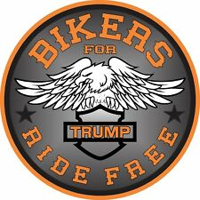 BIKERS FOR TRUMP MOTORCYCLE DECAL WINDOW BUMPER STICKER POLITICAL