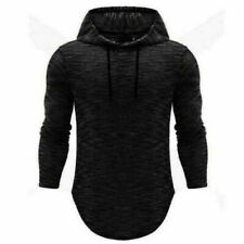 Men's Slim Fit Long Sleeve Shirts Hooded Muscle Tops Hoodie Casual Basic T-shirt
