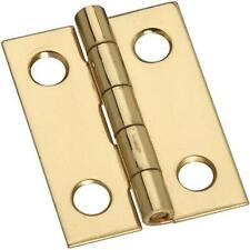 "25 Pk Solid Brass 3/4"" Wide X 1"" High Jewelry Box Small Chest Hinge 4/Pk N211177"