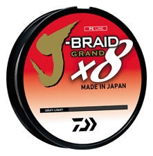 Daiwa J-Braid Grand x8 Gray Light - Braided Fishing Line w/ Izanas Fiber