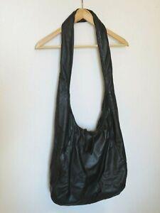 OSKA, Rare BUTTER SOFT 100% Leather Extra Large Slouchy Black Lined Shoulder Bag