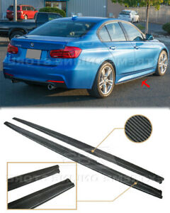 CARBON FIBER EXTENDED Side Skirts For 12-18 BMW F30 F31 3-Series M-Sport Style