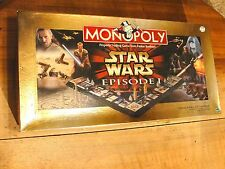 Star Wars Monopoly Episode 1 Collector Edition 1999 3-D Board Game Complete