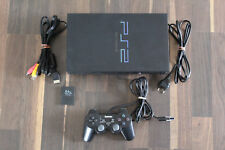 Playstation 2 PS 2 Konsole Fat schwarz + Controller