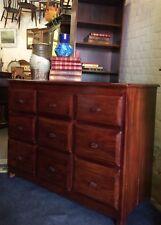 Hardwood Multi-drawer Merchants Style Chest Of Drawers