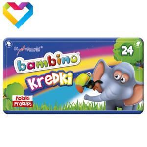 BAMBINO CRAYONS IN METAL BOX 24 COLOURS FOR KIDS - KREDKI BAMBINO