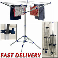 Outdoor Washing Line Clothes Garden Balcony Airer Dryer Laundry Rack Folding