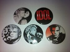 5 Billy Idol Button pin badges 25mm Rebel Yell White Wedding Eye Without A Face