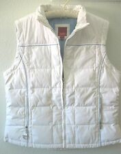 Women's Esprit Outerwear White Winter Down Jacket Size Large Poly / Fleece
