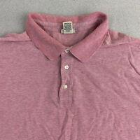 L.L.Bean Polo Shirt Mens XXL Red Short Sleeve Casual Cotton Linen