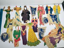 Vintage 40s 50s Paper Doll cut out Carmen Miranda w/ Clothes Accessories