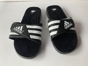 Adidas Adissage Black Sandals In Size 13