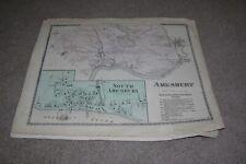 New Listingc.1872 Maps Amersbury, Salisbury Ma-Massachusetts