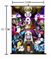 """Hot Japan Anime Game Undertale Cosplay Poster Wall Scroll Home Decor 8""""×12"""" F887"""