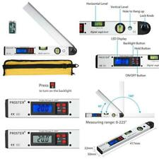 Digital Angle Finder 0-225° Protractor With Battery And Pouch 400Mm Angle Ruler