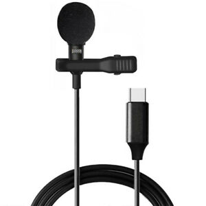 Lavalier Clip-on Microphone Mini Omnidirectional Portable Wired Label Mic